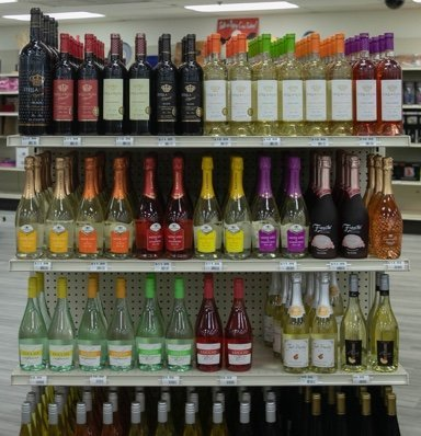 Wine Bottles displayed at our store