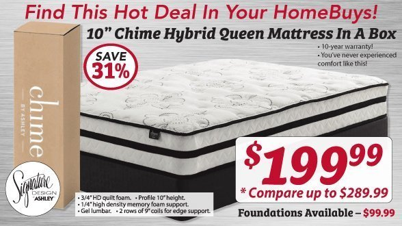 Mattress Promotion at HomeBuys