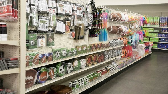 Party supplies on display