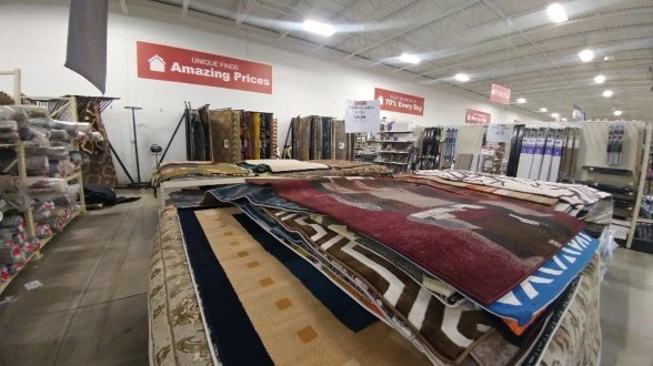 Rugs on display at our store