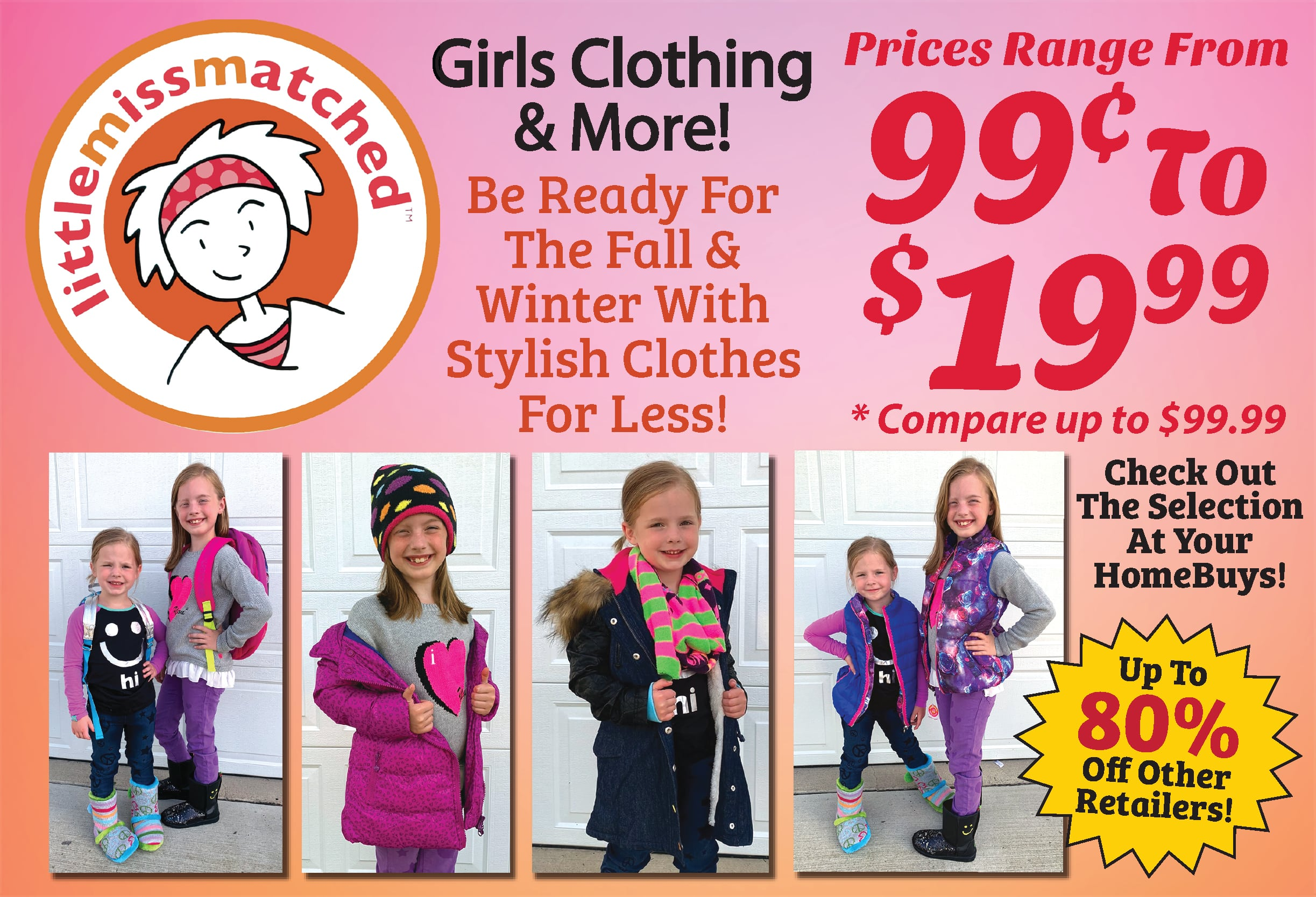 Clothing items available on discount