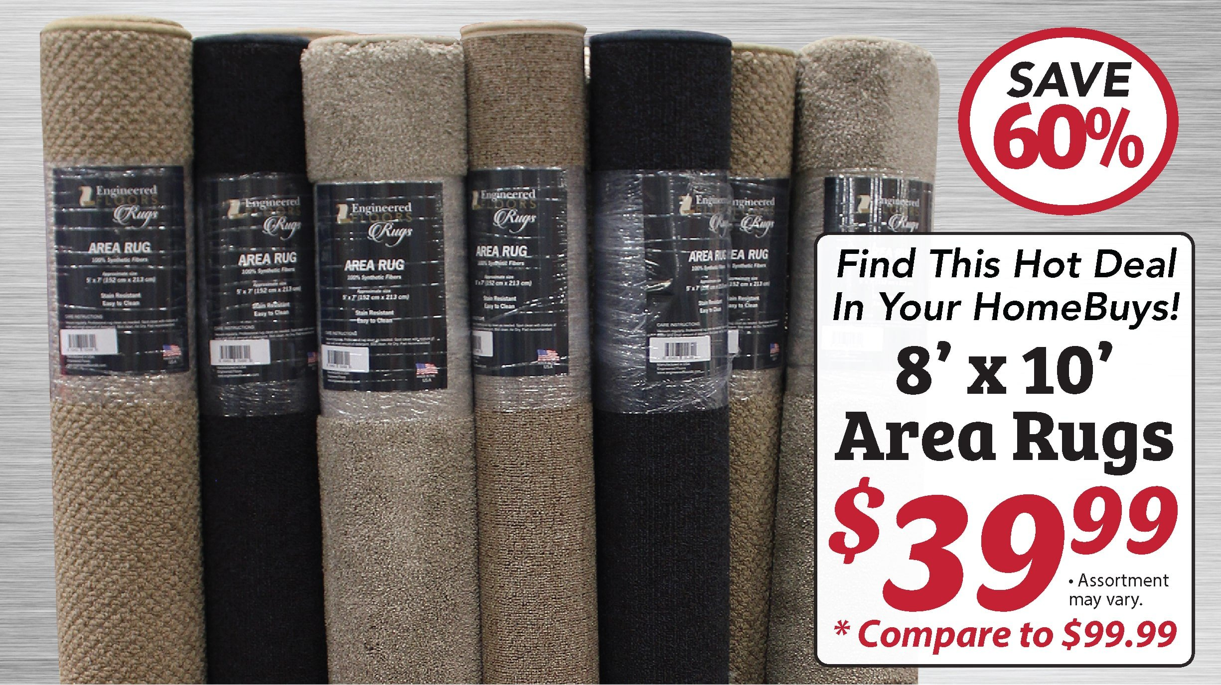Area Rugs at half the price